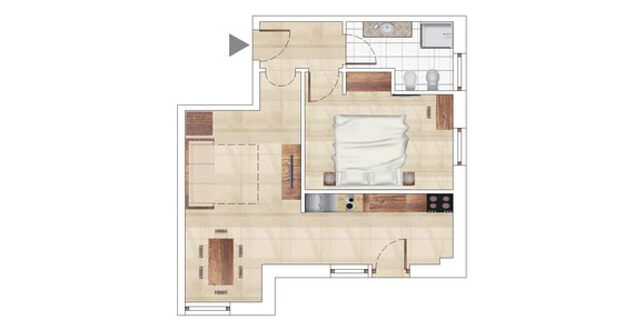 TWO-ROOM 42 m2